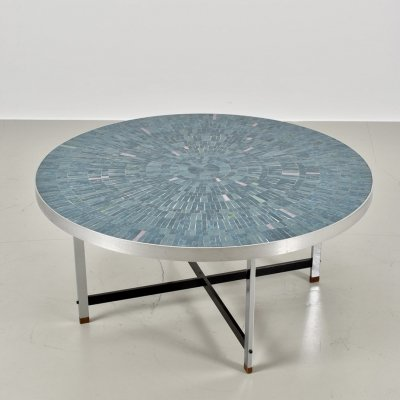 Stunning mosaic coffee table by Berthold Müller