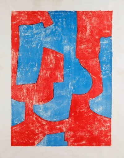 Serge Poliakoff Lithography 'UNTITLED', 1966