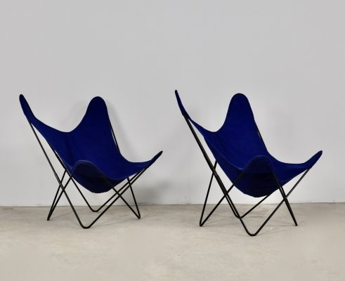 Pair of Butterfly AA Chairs by Jorge Ferrari-Hardoy for Knoll Inc, 1970s
