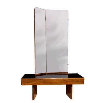 Mid century modern two-wing dressing table, Czechoslovakia, 1960s