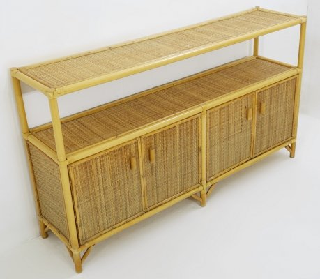 Bamboo sideboard/console, 1960s
