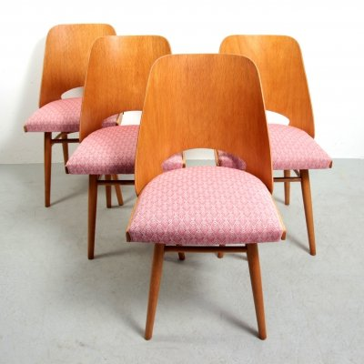 Set of 4 'Nr. 514' Dining Chairs by Thonet/TON
