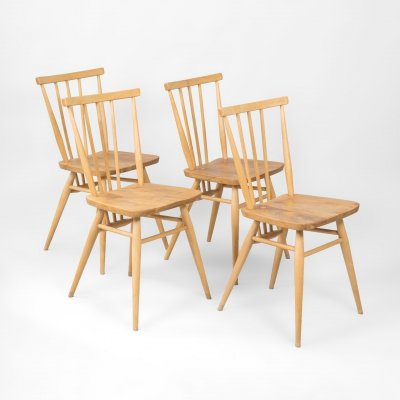 Set of 4 chairs model 391 All Purpose by L. Ercolani for Ercol, UK 1960's