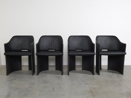 Set of 4 dining chairs by Afra & Tobia Scarpa for Maxalto, Italy 1980s