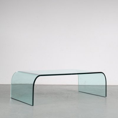 1970s 'Waterfall' coffee table by Angelo Cortesi for Fiam, Italy