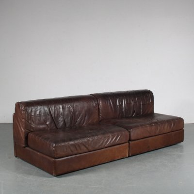 1970s Pair of leather seating elements