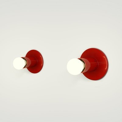 Pair of Goro wall lamps by Sergio Mazza for Quattrifolio, 1970s