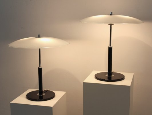 Set of Charming Steel & Milky Glass Table Lights by Ikea