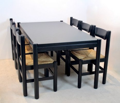 Dining Table with Six Dining Chairs