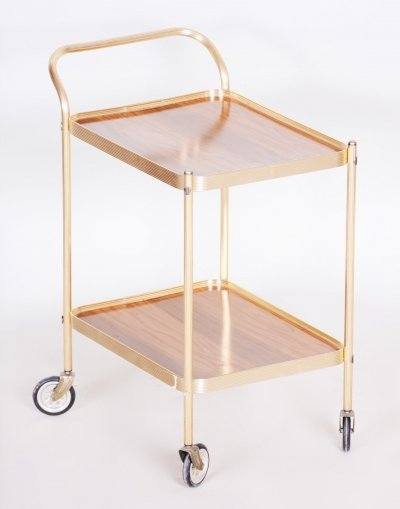 20th Century French Art Deco Trolley in brass, 1950s