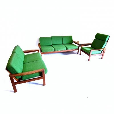 3 piece seating group by Arne Wahl Iversen for Komfort, Denmark 1960s
