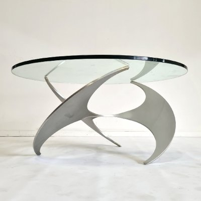 Propellor coffee table by Knut Hesterberg for Ronald Schmitt, Germany 1970s