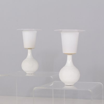Pair of ceramic & plastic lamps by Rosenthal, 1970's