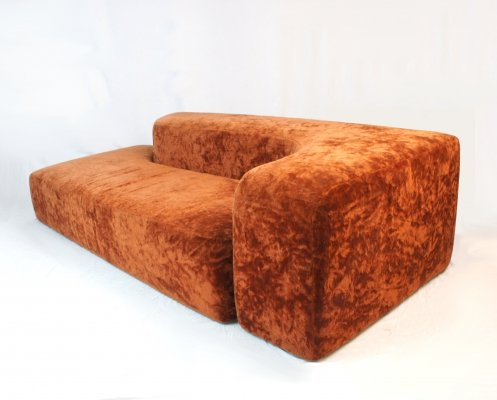 Italian 70s big space age sofa with original upholstery