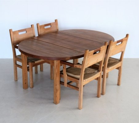 Dining set by Tage Poulsen for Gramrode, 1970s