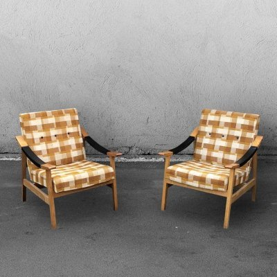 Set of 2 Mid-Century Lounge Chairs, 1976