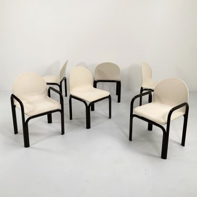 Set of 6 Orsay Armchairs by Gae Aulenti for Knoll, 1970s