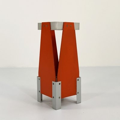 Postmodern Coral Umbrella Stand in wood, 1980s