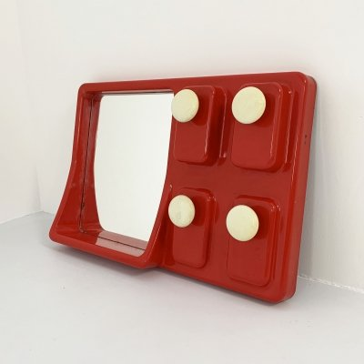 Red Mirror & Rack, 1970s