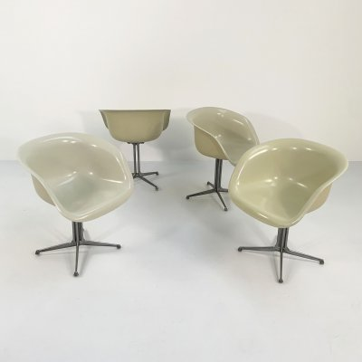 Set of 4 La Fonda Armchairs by Charles & Ray Eames for Herman Miller, 1960s
