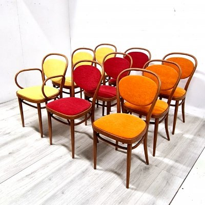 Set of 9 model 215 chairs by Josef Hoffmann for Thonet