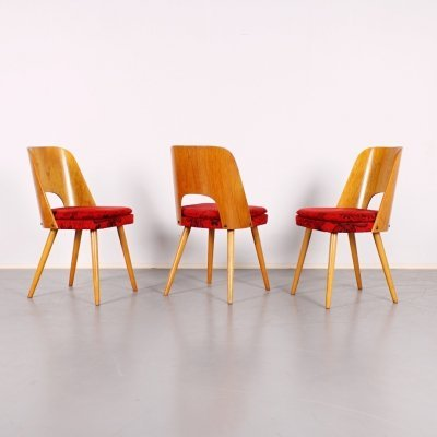 3 x dining chair by Oswald Haerdtl for TON, 1960s