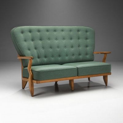 'Grand Repos' Two-Seater Sofa by Guillerme et Chambron for Votre Maison