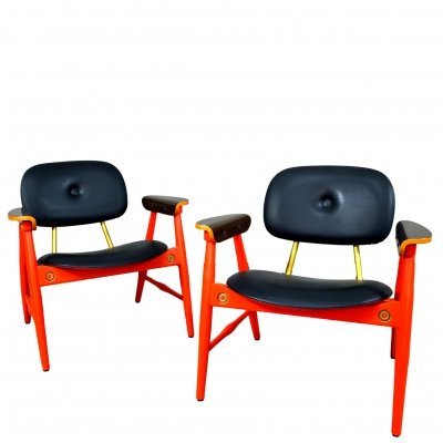 Pair of Armchairs by Marco Zanuso for Poltronova, 1970s