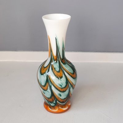 Opaline Florence Vase by Carlo Moretti, 1970s