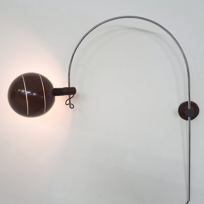 Large arc wall light by BIS Lighting Sappemeer, The Netherlands 1970's