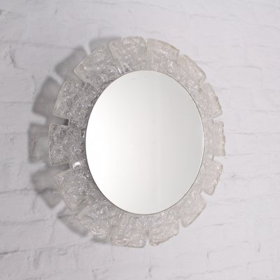 Large acrylic luminous mirror by Hillebrand, 1970's