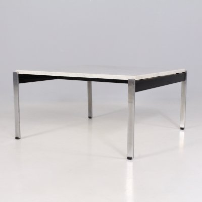 Minimalist marble coffee table by Kho Liang Ie for Artifort, 1960's