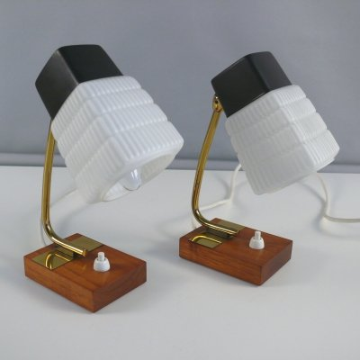 Pair of bedside lamps, 1960s