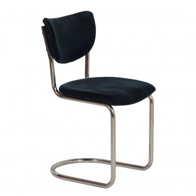 2011 Cantilever Chair in Blue Manchester Rib by Toon de Wit for Gebr. De Wit