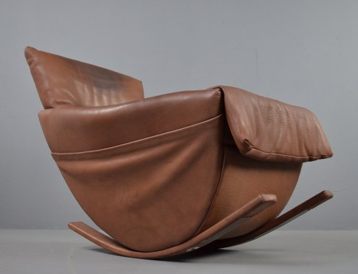 De Sede rocking chair in bull leather, 1970s