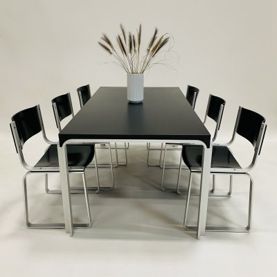 Pastoe dining table model TM6110 & dining chairs model SM0301 by Pierre Mazairac, 1972