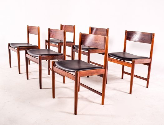 Mid Century Rosewood Dining Chairs by Arne Vodder for Sibast Furniture