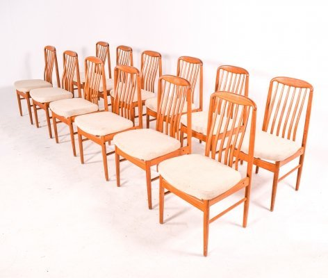 Set of 12 Benny Linden Teak Dining Chairs, 1970s