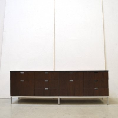Rosewood & Granite sideboard by Florence Knoll, 1970s