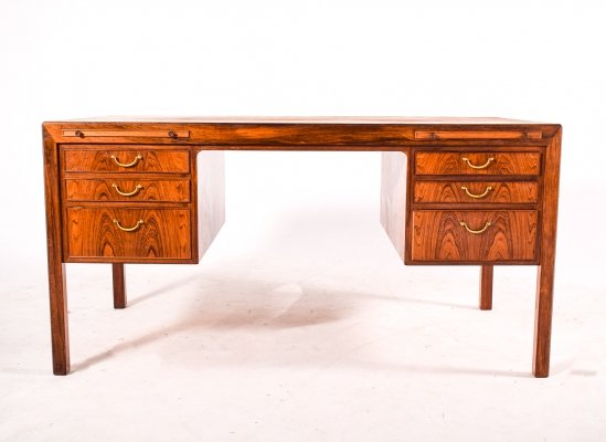 Rosewood Desk by Ole Wanscher for A J Iversen, 1950s