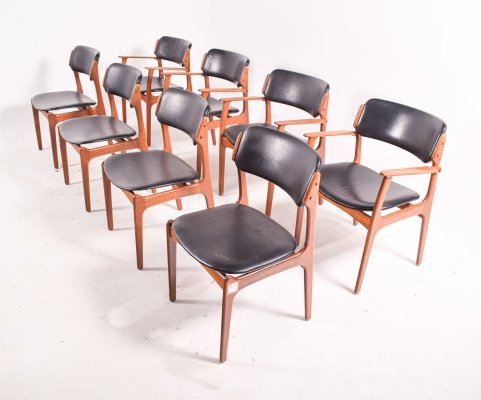 Set of 8 Rosewood Erik Buch Dining Chairs for Odense Maskinsnedkeri