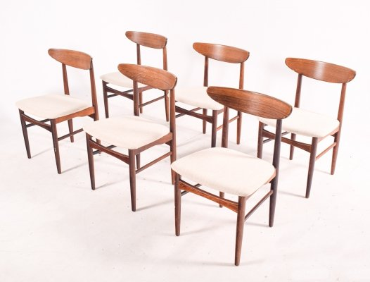 Set of 6 Rosewood Dining Chairs by EW Bach for Skovby Møbelfabrik, 1960s