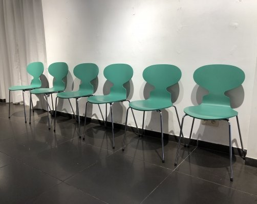 Set of 6 'Ant' Dining Chairs by Arne Jacobsen for Fritz Hansen, 1950s