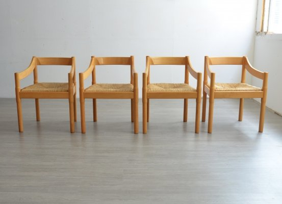Set of 4 Carimate dining chairs by Vico Magistretti, 1980s