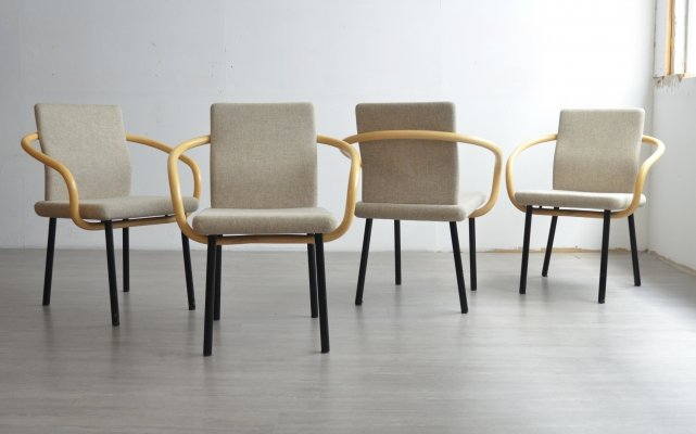Set of 4 Mandarin Chairs by Ettore Sottsass for Knoll, 1980s