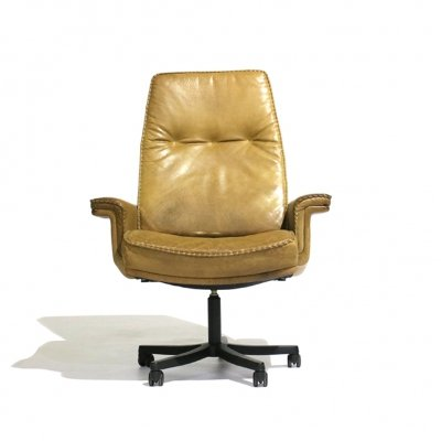 80s Office Chair in leather