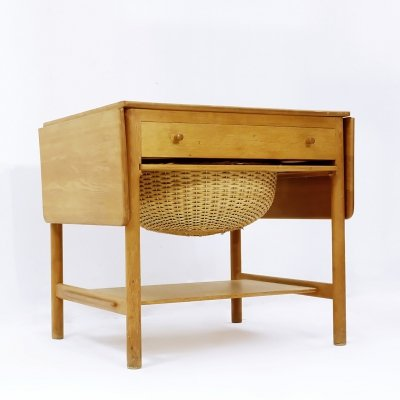 AT-33 Sewing Table in Teak & Oak by Hans J. Wegner for Andreas Tuck, 1950s