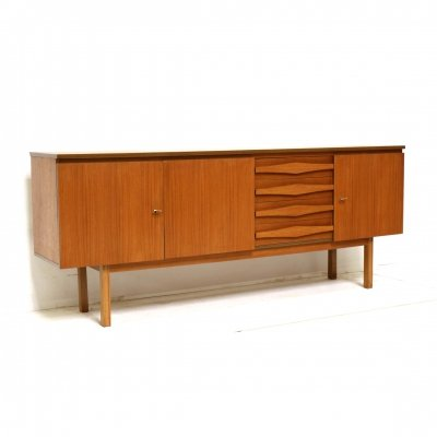 Large vintage sideboard with beautiful handles, 1960s