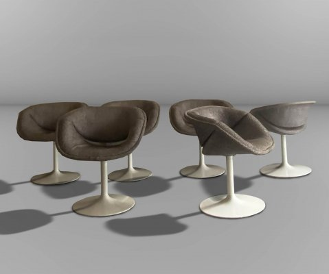 Set of 8 dining chairs by Pierre Paulin for Artifort, 1960s
