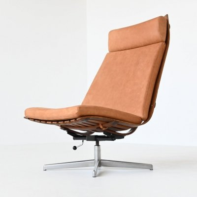 Hans Brattrud Scandia swivel lounge chair by Hove Mobler, Norway 1957